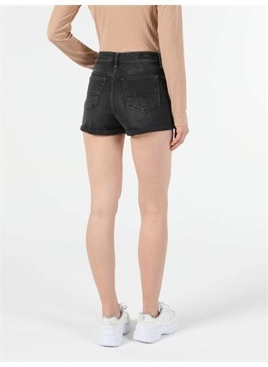 Colin's CL1054624_Q1.V1_DN01681  Yüksek Bel Kisa Super Slim Fit Jean Kadın Jean şort Renkli